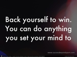 Back yourself to win beyond sport - Annette Lynch